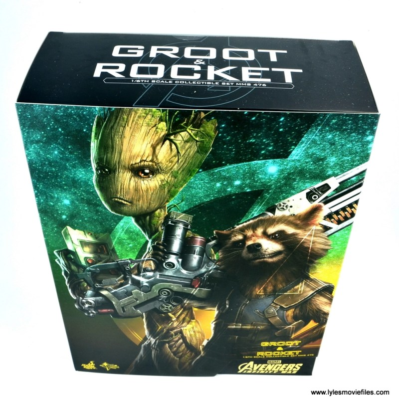 hot toys avengers infinity war groot and rocket review -package top