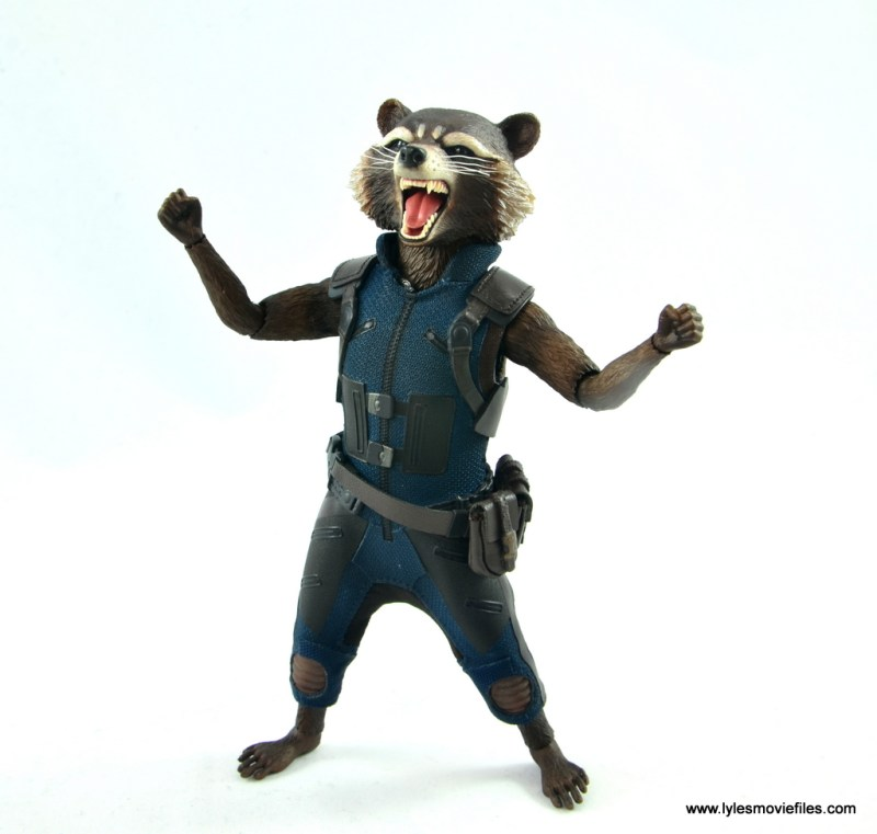 hot toys avengers infinity war groot and rocket review - rocket mad