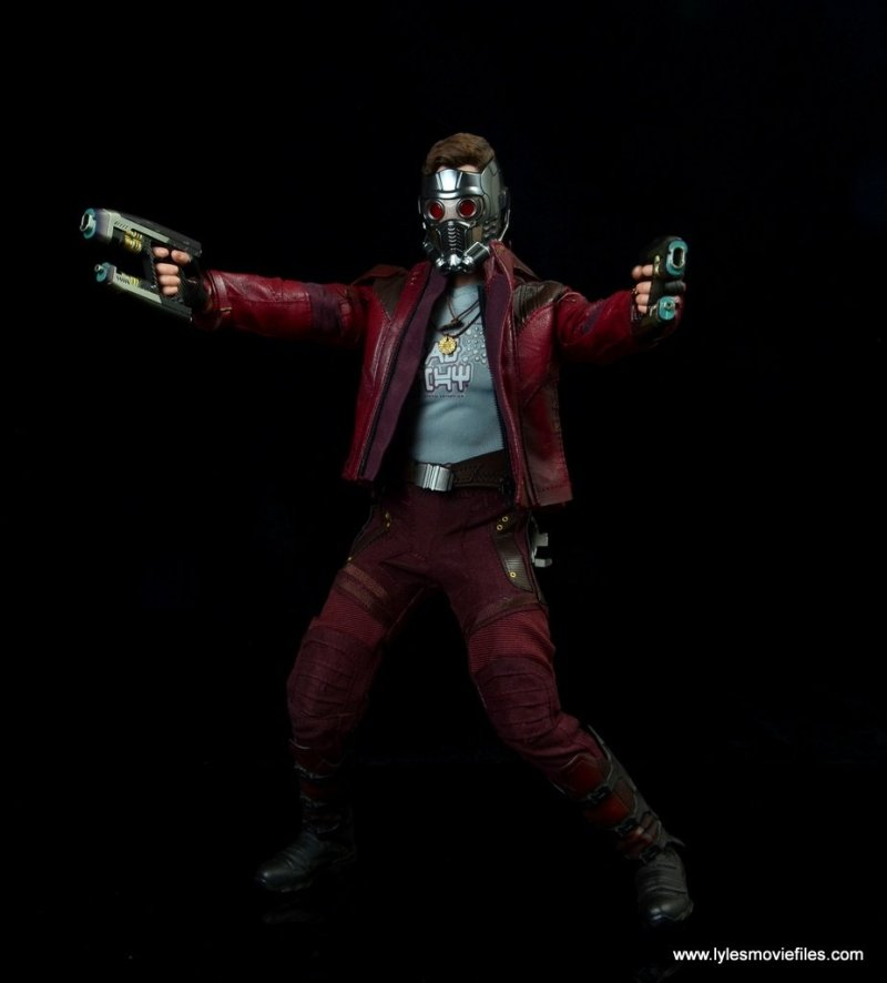 hot toys guardians of the galaxy vol. 2 star-lord figure review aiming with both blasters