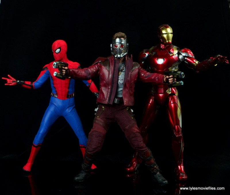 hot toys guardians of the galaxy vol. 2 star-lord figure review infinity war team up with spider-man and iron man