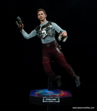 hot toys guardians of the galaxy vol. 2 star-lord figure review -on stand
