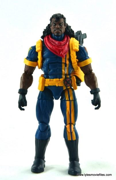 marvel legends bishop action figure review - front