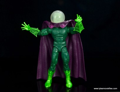 marvel legends mysterio figure review - arms out