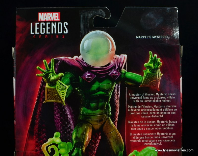 marvel legends mysterio figure review - package bio