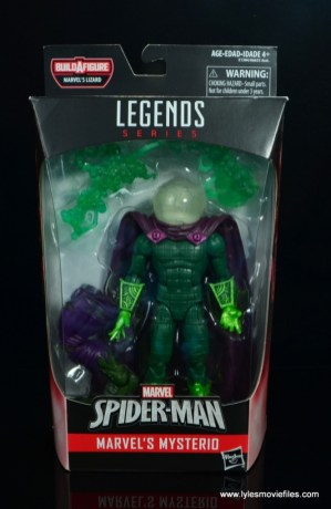 marvel legends mysterio figure review - package front
