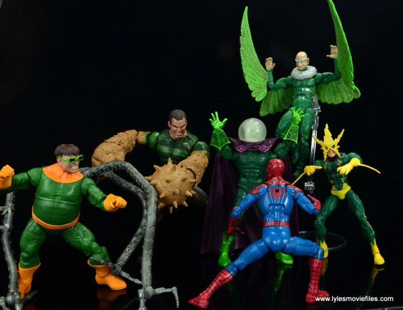 marvel legends mysterio figure review - with sinister six vs spider-man