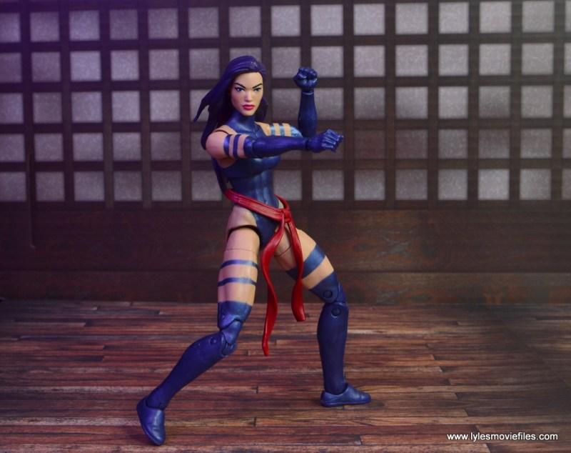 marvel legends psylocke figure review -ninja pose