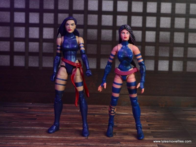 marvel legends psylocke figure review -with toy biz psylocke