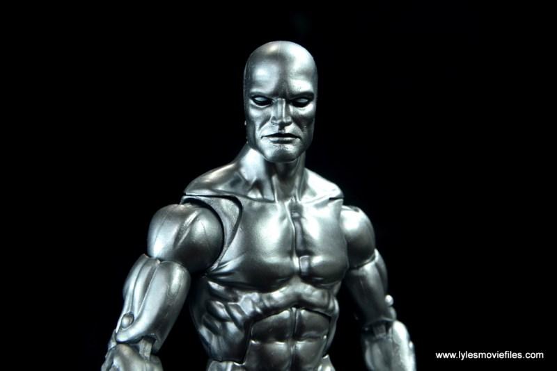 marvel legends silver surfer figure review - close up