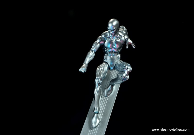 marvel legends silver surfer figure review -gliding down