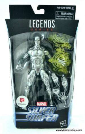 marvel legends silver surfer figure review -package front