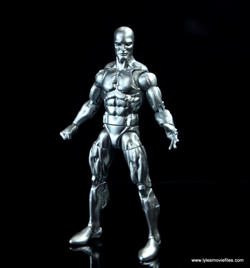 marvel legends silver surfer figure review - wide stance