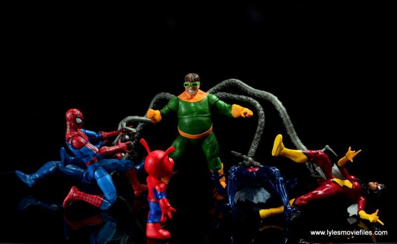 marvel legends spider-ham figure review -alone against doctor octopus