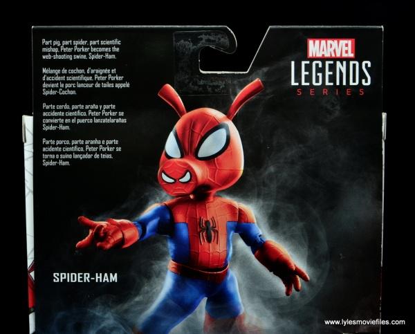 marvel legends spider-ham figure review -package bio
