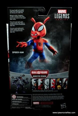 marvel legends spider-ham figure review -package rear