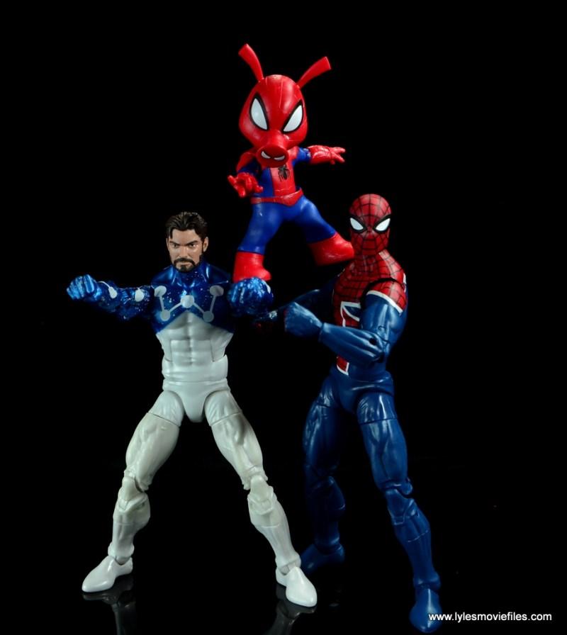 marvel legends spider-ham figure review -with ultimate spider-man and spider-man uk