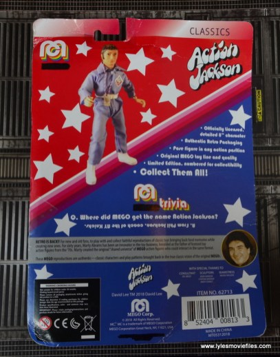 mego action jackson figure review - package rear
