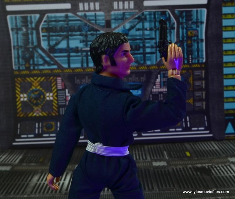 mego action jackson figure review - rear shot with gun