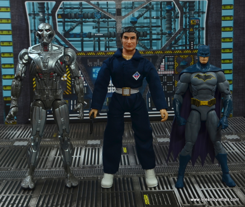 mego action jackson figure review - scale with marvel legends ultron and dc essentials batman
