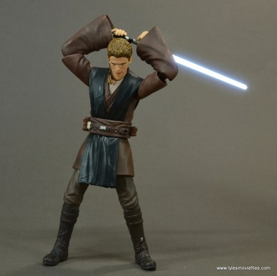 sh figuarts anakin skywalker figure review -raising lightsaber lit