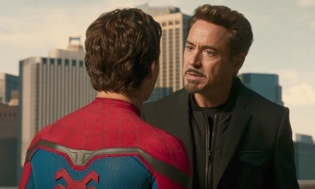 spider-man homecoming peter and tony stark