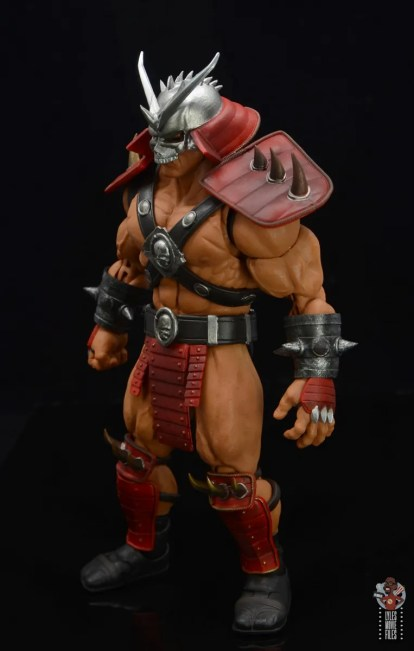 storm collectibles mortal kombat shao khan figure review - keft side