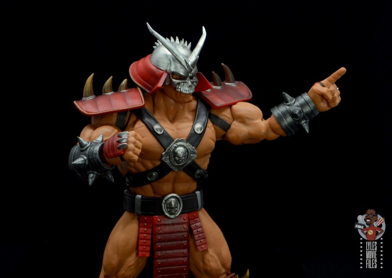 storm collectibles mortal kombat shao khan figure review - pointing