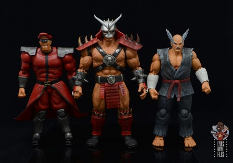 storm collectibles mortal kombat shao khan figure review - scale with m. bison and heihachi mishmai