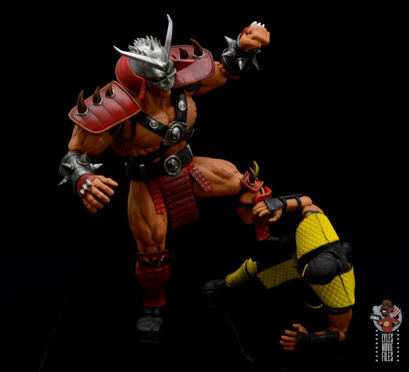 storm collectibles mortal kombat shao khan figure review - stomping scorpion