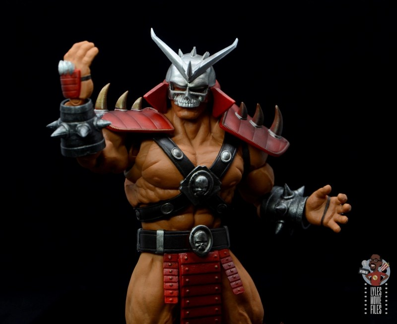 storm collectibles mortal kombat shao khan figure review - victory pose