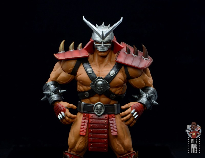 storm collectibles mortal kombat shao khan figure review - wide shot