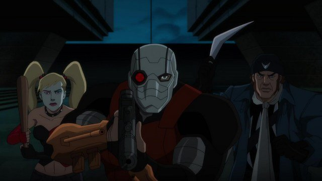 suicide squad: hell to pay - harley quinn, deadshot and captain boomerang