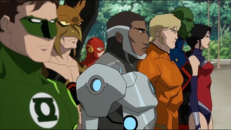 the death of superman movie review -green lantern, flash, hawkman, cyborg, aquaman, martian manhunter and wonder woman