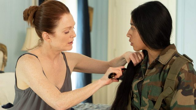 bel canto movie review -julianne moore and maria mercedes coroy