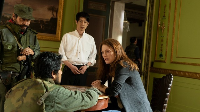 bel canto movie review -tenoch huerta, ryo kase and julianne moore