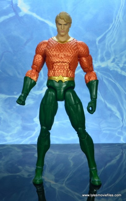 dc essentials aquaman action figure review - front