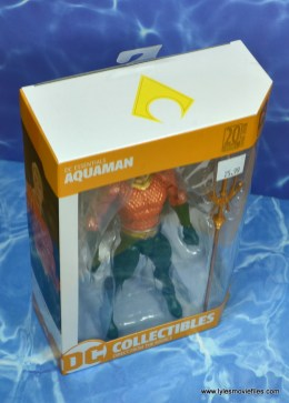 dc essentials aquaman action figure review - package top