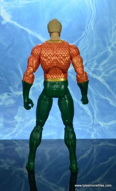 dc essentials aquaman action figure review - rear