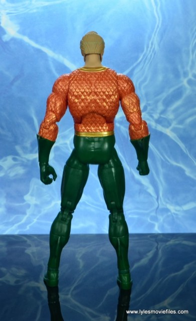 dc essentials aquaman action figure review - rear