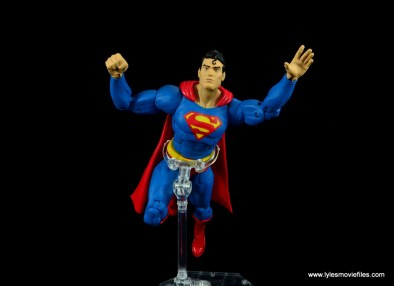 dc essentials superman review - in the air