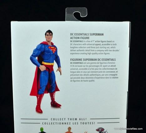 dc essentials superman review - package bio