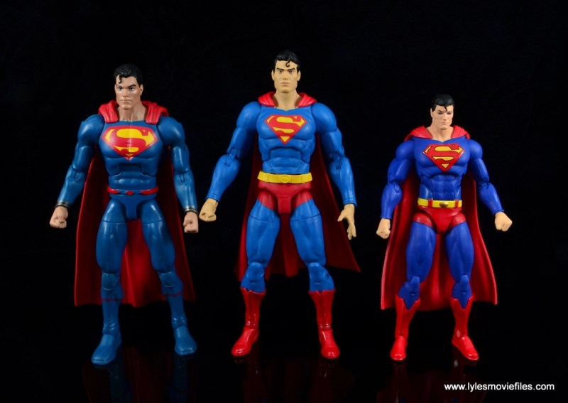 dc essentials superman review - scale with dc multiverse and dc icons superman