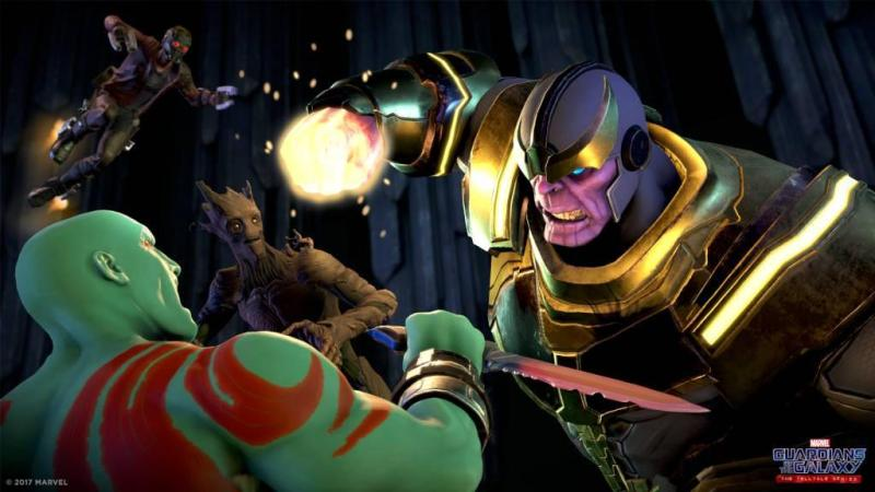 guardians of the galaxy the telltale series - guardians vs thanos