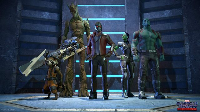 guardians of the galaxy the telltale series - rocket, groot, star-lord, gamora and drax