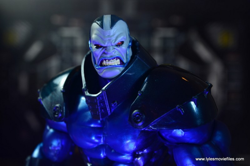 marvel legends baf apocalypse figure review - close up
