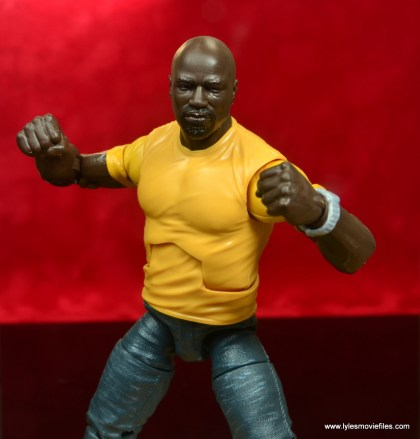 marvel legends luke cage and claire figure review -cage ready for a fight