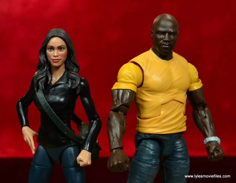 marvel legends luke cage and claire figure review -claire and cage wide shot