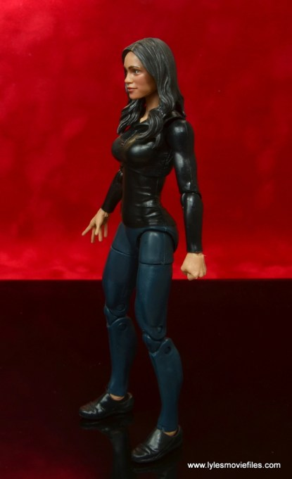 marvel legends luke cage and claire figure review -claire temple left side
