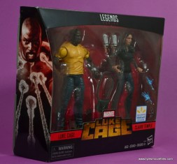 marvel legends luke cage and claire figure review -package right side