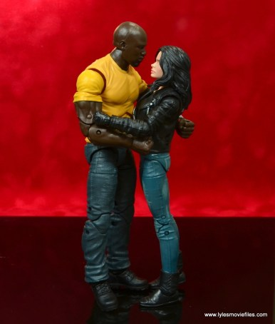 marvel legends luke cage and claire figure review -quality time with jessica jones